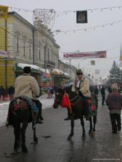 Picture of Winter Festival Parade. Taken 2005-12-27 in Sighet, Romania by traveler hendersons.