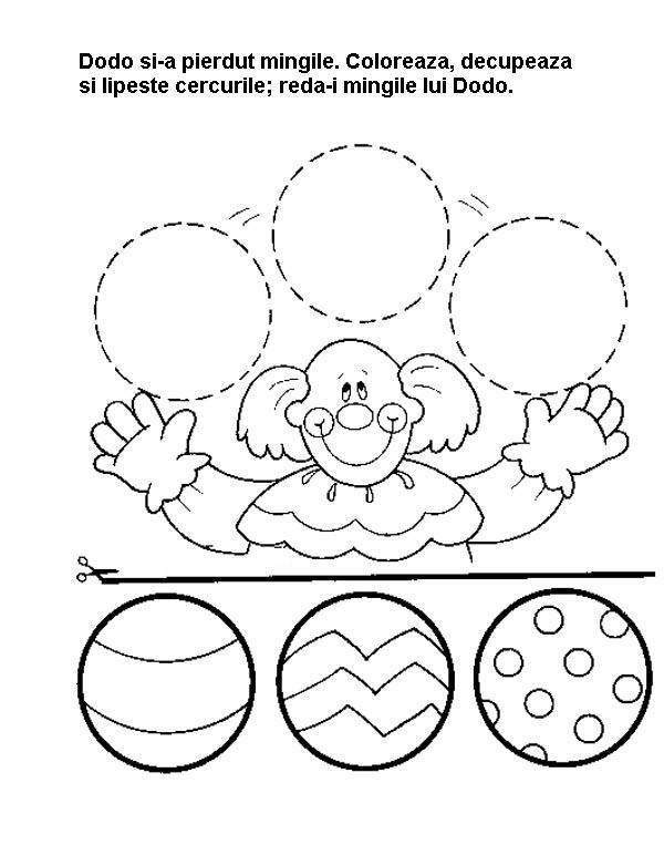 Planse De Desenat Colorat Decupat Pentru Gradinita