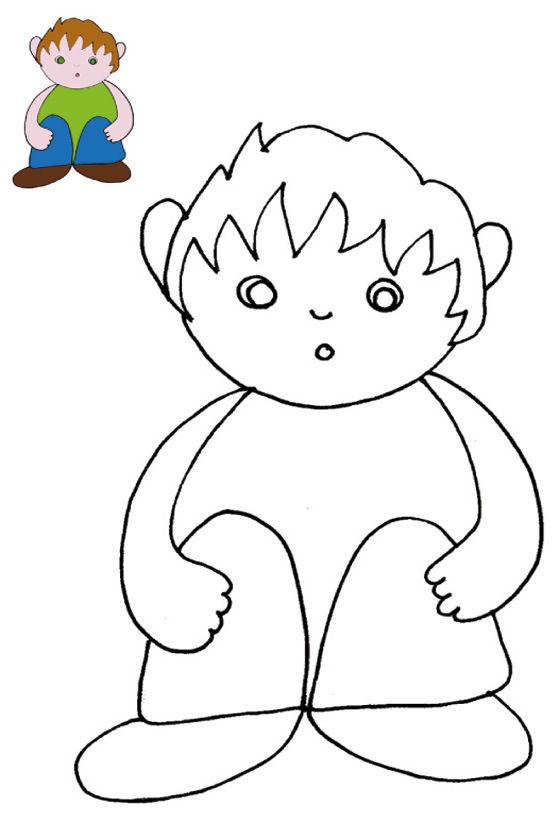 Coloreaza dupa model - Modele coloriage enfant ...