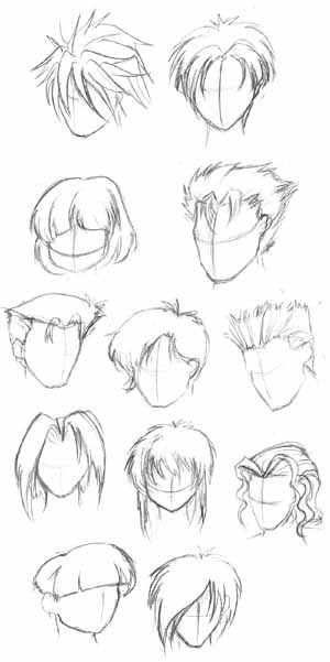 Anime Head Outline